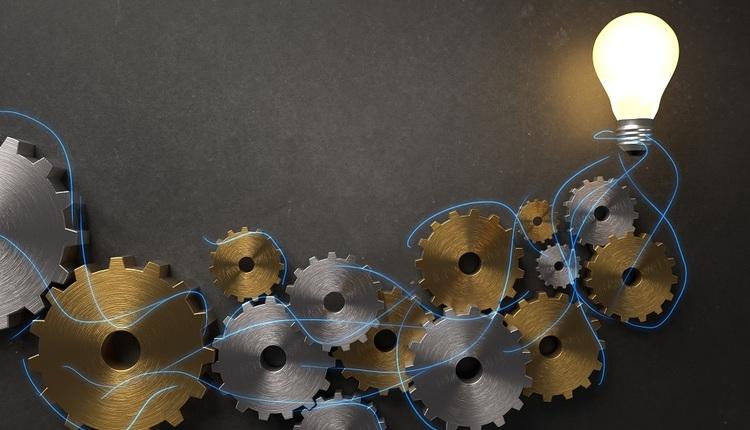 lightbulb and gears